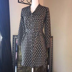 Ann Taylor LOFT Belted Button Down Shirt Dress